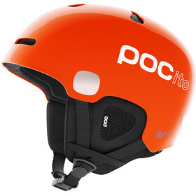 POC POCito Auric Cut Spin Casco Niños, fluorescent orange
